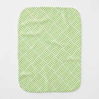 Light Lime Green Crosshatch Pattern Burp Cloths