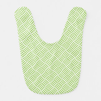 Light Lime Green Crosshatch Pattern Bibs