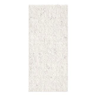 Light Linen Background Custom Rack Card