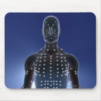 Light map of acupuncture points mouse pad