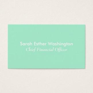 Light Mint Color Business Card