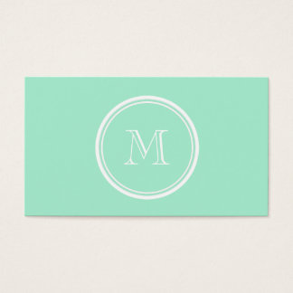Light Mint Green High End Colored Business Card