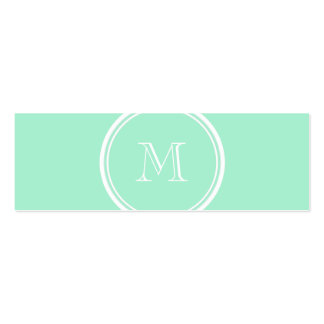 Light Mint Green High End Colored Pack Of Skinny Business Cards