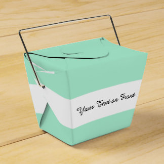 Light Mint Green High End Colored Matching Favour Boxes