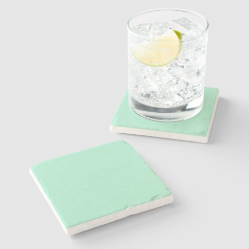 Light Mint Green High End Colored Matching Stone Coaster
