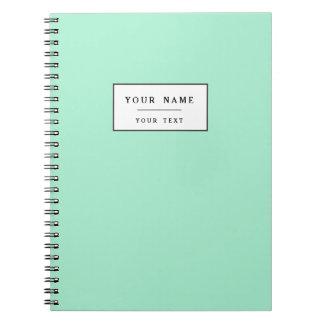 Light Mint Green High End Colored Matching Notebook