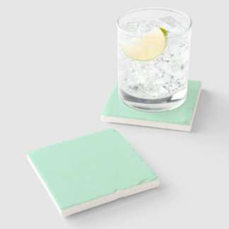 Light Mint Green High End Colored Matching Stone Beverage Coaster