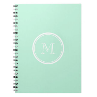 Light Mint Green High End Colored Spiral Note Book