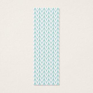 Light Mint Yarn Chevrons Knit Pattern Customizable Mini Business Card