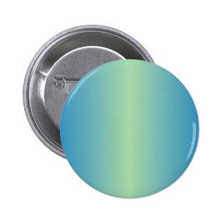 Light Moss Green and True Blue Gradient 6 Cm Round Badge