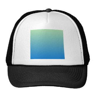 Light Moss Green to True Blue Horizontal Gradient Hats