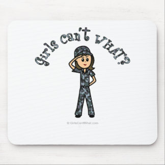 Light Navy Girl Mouse Pad