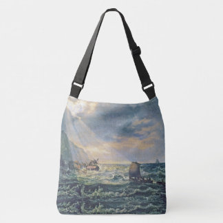 Light Ocean Coast Boats Shipwreck Tote Bag