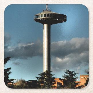 Light of Moncloa, Madrid Square Paper Coaster