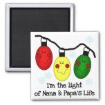 Light of Nana and Papa's Life Tshirts and Gifts Magnet