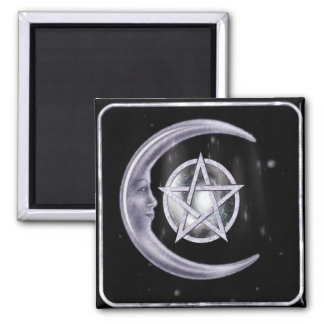 Light of the Moon WICCA New Age Square Magnet