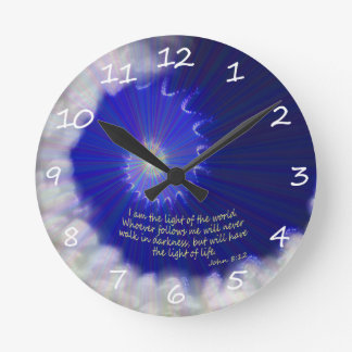 Light Of The World Round Clock