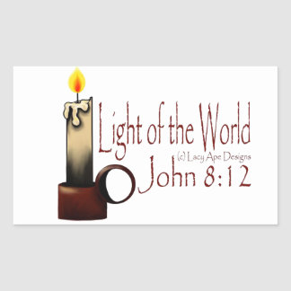 Light of the World (White) Rectangular Sticker