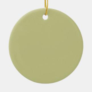 Light Olive Color Round Ceramic Decoration