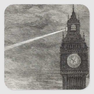 Light on the Clock Tower, Houses of Parliament Stickers
