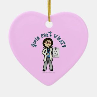 Light Optometrist Girl Christmas Ornament