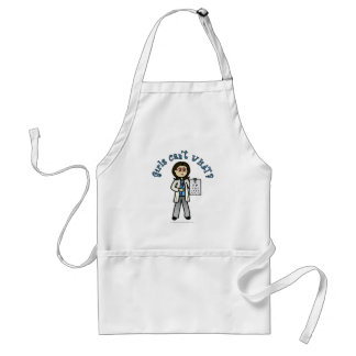 Light Optometrist Girl Standard Apron