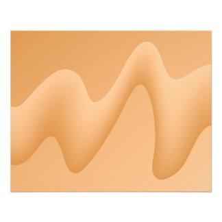 Light Orange Abstract Image Design Flyer Design
