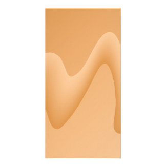 Light Orange Abstract Image Design Photo Cards