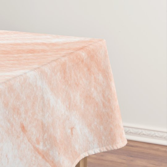 Light Orange And White Marble Tablecloth