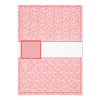 Light Orange Damask wedding gift 13 Cm X 18 Cm Invitation Card