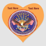 Light Orange Heart Stickers