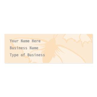 Light Orange Peach Color Butterfly Design. Business Card
