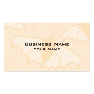 Light Orange Peach Color Butterfly Design. Pack Of Standard Business Cards