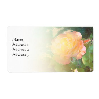 Light Orange Rose Custom Avery Label