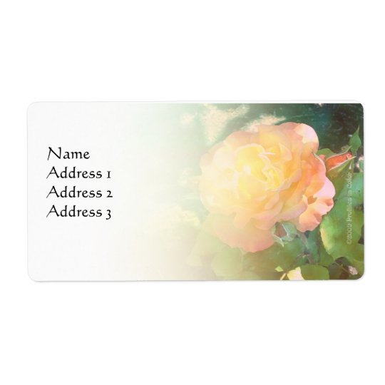 Light Orange Rose Custom Avery Label Shipping Label