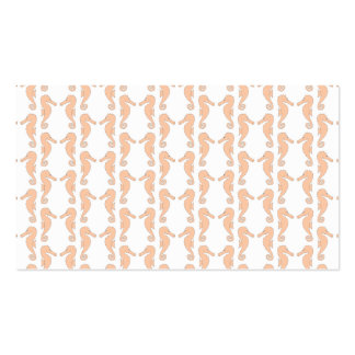 Light Orange Seahorse Pattern Pack Of Standard Business Cards