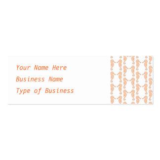 Light Orange Seahorse Pattern Pack Of Skinny Business Cards