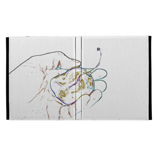light outline pepper hand colorful food image iPad folio covers