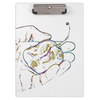 light outline pepper hand colorful food image clipboard