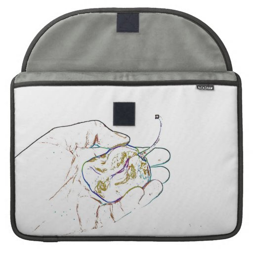 light outline pepper hand colorful food image sleeves for MacBooks