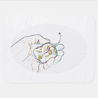 light outline pepper hand colorful food image receiving blankets