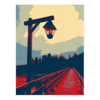 Light Over The Bridge Postcard
