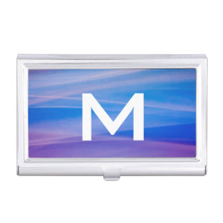 Light painting abstract color trails business card holder