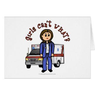 Light Paramedic Girl Card