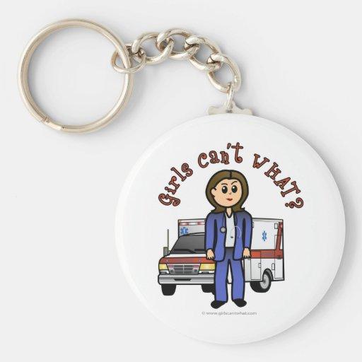Light Paramedic Girl Keychains