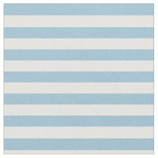 Light Pastel Blue & White Striped Fabric
