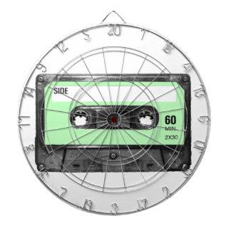 Light Pastel Green Vintage Cassette Dart Board