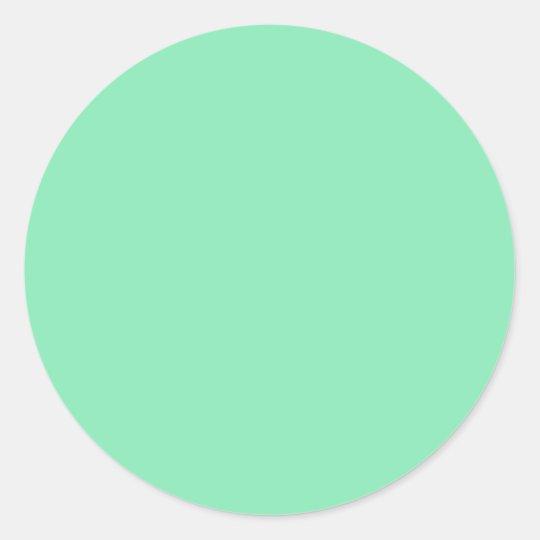 Light Pastel Mint Green Round Sticker