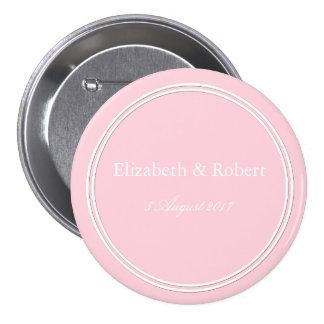 Light Pastel Pink Wedding Decorations 7.5 Cm Round Badge