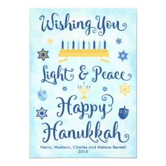 Light & Peace Happy Hanukkah Card